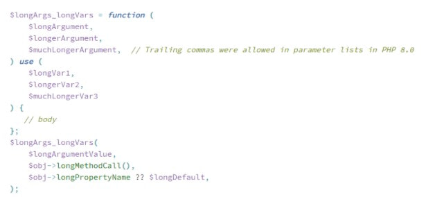 Php 8 Trailing Comma